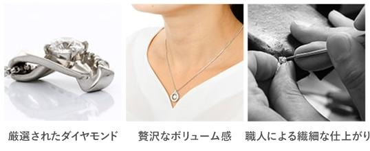 厳選されたダイヤモンド・贅沢なボリューム感・職人による繊細な仕上がり